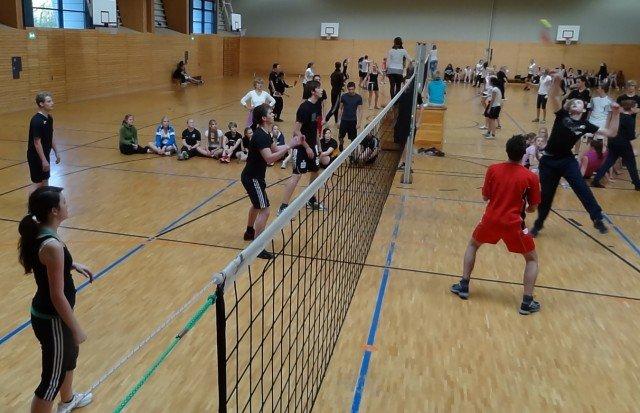Spannende Wettkämpfe während des Turniers.