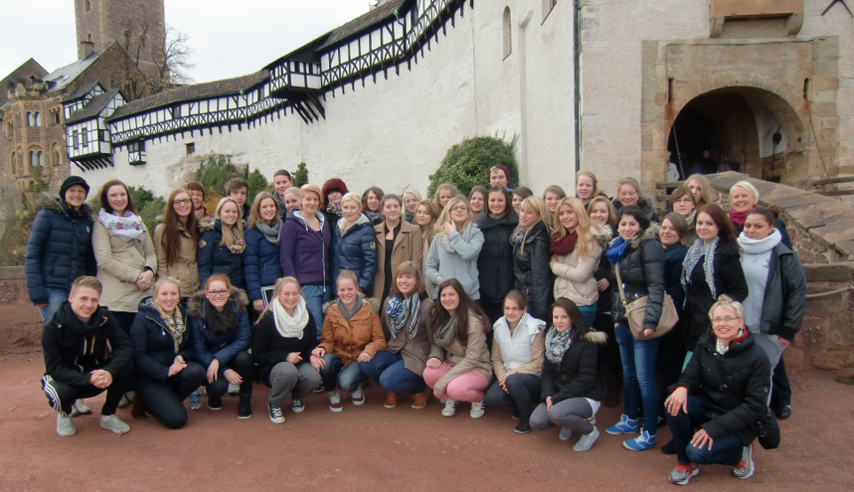 Die HBFS-Klassen vor der Wartburg. (Foto: SMMP/Werpers)