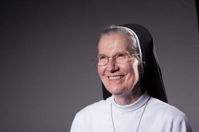 Schwester Engeltraud Leister kam vor 50 Jahren nach Ahaus. Sie unterrichtete an der bischöflichen Canisiusschule und am Berufskolleg Canisiusstift. Foto: SMMP/Andreas Beer