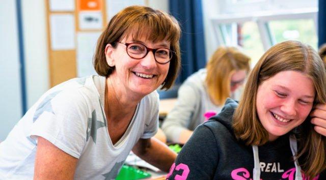 Spaß am Lernen gehört dazu. An unserem Berufskolleg mit den Profilschwerpunkten Soziales und Gesundheit werden zwei Bildungsgänge, die zur Allgemeinen Hochschulreife/Abitur führen, unterrichtet. (Foto: SMMP)