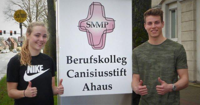 Sophie Almering, AHE 11, und Marius Herden, AHS 12, sind Ahauser Sportler des Jahres. (Foto: SMMP/Austrup)