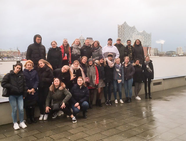 gemeinsam am Hamburger Hafen